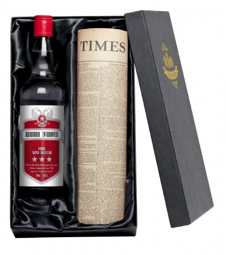 Personalised Vodka and Newspaper Giftpack